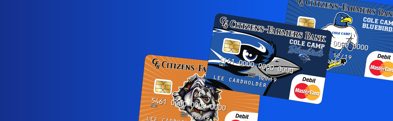 You will show your school spirit every time you use your card and see that high school mascot.